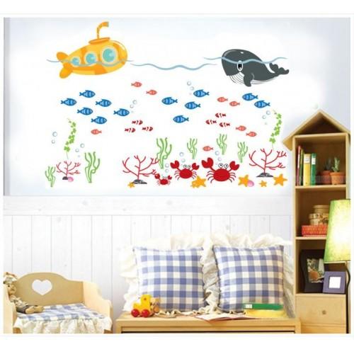 Muurstickers Kinderkamer Zee.Zeedieren Muursticker