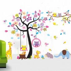 Sticker Boom Kinderkamer.Muurstickers Tover Die Saaie Muur Om Tot Een Prachtig Plaatje